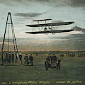 Wilbur Wright Rounds A Pylon by Mary Evans Picture Library