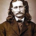 Wild Bill Hickok Painterly by Daniel Hagerman