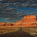 Wild Horse Butte And Road Goblin Valley Utah by Dave Welling