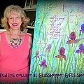 Wild Iris Collage At Glasshopper Gifts Show by Carla Parris