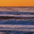 Wildwood Beach Golden Sky by David Dehner