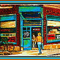 Wilenskys Art Famous Blue Door Posters Prints Cards Originals Commission Montreal Painting Cspandau  by Carole Spandau