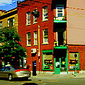 Wilenskys Famous Light Lunch Diner Corner Clark And Fairmount Montreal City Scene Carole Spandau by Carole Spandau
