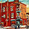 Wilenskys Hockey Art Paintings Originals Commissions Prints Montreal Deps Street Art Carole Spandau  by Carole Spandau