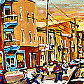 Wilenskys Hockey Paintings Montreal Commissions Originals Prints Contact Artist Carole Spandau  by Carole Spandau