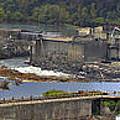 Willamette Falls Dam In Oregon City Panorama 3 by David Gn