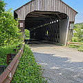 Willard Covered Bridge North Hartland Vermont by Edward Fielding