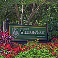 William And Mary Welcome Sign by Jerry Gammon