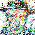 William Burroughs Watercolor Portrait by Fabrizio Cassetta