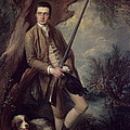 William Poyntz Of Midgham And His Dog Amber Oil On Canvas by Thomas Gainsborough