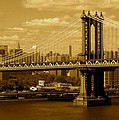 Williamsburg Bridge New York City by Monique's Fine Art