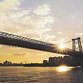 Williamsburg Bridge - Sunset - New York City by Vivienne Gucwa