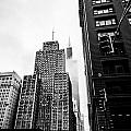 Willis Tower In The Clouds - Black And White by Anthony Doudt