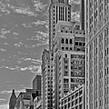 Willoughby Tower And 6 N Michigan Avenue Chicago  by Christine Till