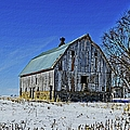 Willow Barn Painting by Bonfire Photography