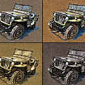 Willys Jeep Mb Car Drawing by Daliana Pacuraru