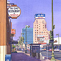 Wilshire Blvd At Mansfield by Mary Helmreich