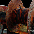 Winch - Cable - Crank - Boats by Barbara Griffin