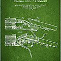 Winchester Firearm Patent Drawing From 1877 - Green by Aged Pixel