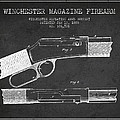 Winchester Firearm Patent Drawing From 1888- Dark by Aged Pixel