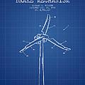 Wind Generator Break Mechanism Patent From 1990 - Blueprint by Aged Pixel