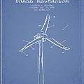 Wind Generator Break Mechanism Patent From 1990 - Light Blue by Aged Pixel