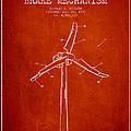 Wind Generator Break Mechanism Patent From 1990 - Red by Aged Pixel