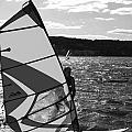 Wind Surfer II Bw by Pablo Rosales