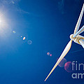 Wind Turbine And Sun  by Johan Swanepoel