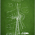 Wind Turbine Patent From 1944 - Green by Aged Pixel