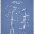 Wind Turbine Rotor Blade Patent From 1995 - Light Blue by Aged Pixel