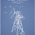 Wind Turbine Speed Control Patent From 1994 - Light Blue by Aged Pixel