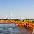 Wind Turbines On Atlantic Coast by Elena Elisseeva