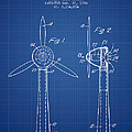 Wind Turbines Patent From 1984 - Blueprint by Aged Pixel