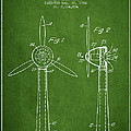 Wind Turbines Patent From 1984 - Green by Aged Pixel