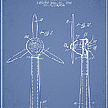 Wind Turbines Patent From 1984 - Light Blue by Aged Pixel