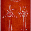 Wind Turbines Patent From 1984 - Red by Aged Pixel
