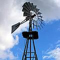 Windmill And Sky by Karen Adams