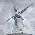 Windmill At Damme In Belgium Countryside by Greg Matchick