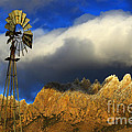 Windmill At The Organ Mountains New Mexico by Bob Christopher