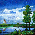 Windmill, Holland, 2006 Oil On Board by Trevor Neal