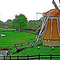 Windmill In A Park In Enkhuizen-netherlands by Ruth Hager