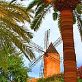 Windmill In Palma De Mallorca by Deborah Boyd
