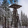 Windmill In The Snow by Scott Campbell