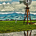 Windmill On The Hills by Artist and Photographer Laura Wrede