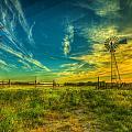 Windmill Sunset by  Caleb McGinn