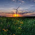 Windmill Sunset by Christopher Nelson