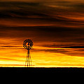 Windmill Sunset by Gary Langley