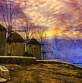 Windmills In Mykonos by Madeline Ellis