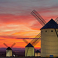 Windmills La Mancha by Rudi Sebastian